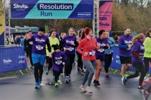 Newcastle runners join the resolution to raise £12,000 for the Stroke Association