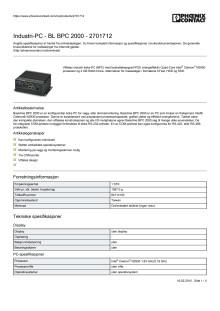 Industri-PC - BL BPC 2000 - 2701712
