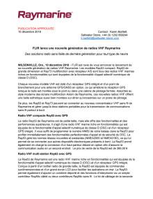 FLIR lance une nouvelle génération de radios VHF Raymarine
