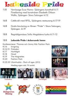 Lakeside Pride i Askersund i samarbete med Live at Heart