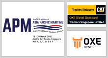 OXE Diesel displayed at APM by Tractors Singapore 18 to 20 March 2020