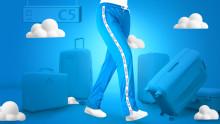 High fashion: KLM lanserer «Jet Legs» på Instagram