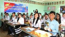 Mongoliska ungdomar i täten för mänskliga rättigheter