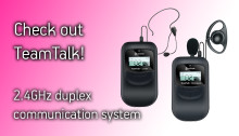 Univox launches TeamTalk, a 2.4GHz duplex communication system at ISE