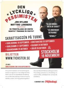 """Humorföreställningen """"Den Lyckliga Pessimisten"""" till Karlskrona, Karlshamn och Kristianstad"""