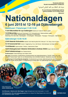 Nationaldagen 6 juni 2015 - affisch