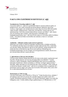 Fakta om Clostridium difficile  (C. diff)