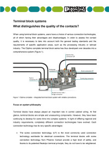 Terminal block systems: What distinguishes the quality of the contacts?