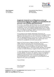 Oliver Rosengrens brev till Migrationsverket