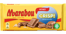 Mjuk toffee och krispiga rispuffar i Marabous nya chokladkaka