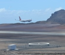 HISTORY MADE AS LARGE PASSENGER JET AIRCRAFT LANDS AT ST HELENA