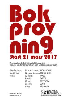 Programmet klart till Bokprovningen på Svenska barnboksinstitutet den 21 mars
