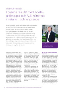 Melanom och lungcancer med mera - professor Arne Östman rapporterar från ASCO 2010