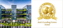 PARKROYAL on Pickering crowned Asia's Leading Green Hotel for Fifth Year Running