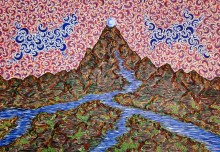 The Mountain, a spiritual painting mirroring our journey in life. Happy New Year!