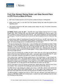 Ford kører en flot andenplads hjem i Le Mans
