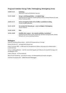 Program 8 oktober Energy talks