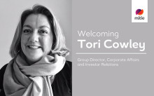 Tori Cowley appointed Group Director of Corporate Affairs & Investor Relations