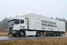 """Så går det løs i Scania """"Young European Truck Driver"""" chaufførkonkurrencen"""