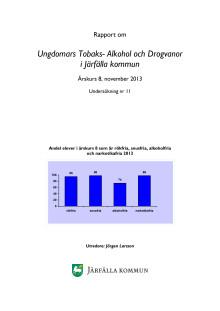 Rapport om  ungdomars tobaks- alkohol och drogvanor i Järfälla kommun