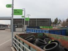 Välkommen med dina gamla däck till återvinningen