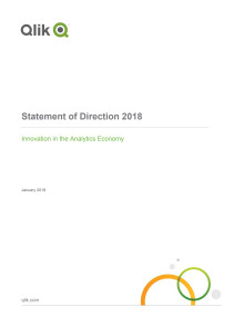 2018 Qlik Statement of Direction