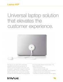 Varularm från Gate Security - InVue Laptop AOP
