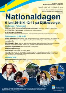 Program för nationaldagen 6 juni 2016