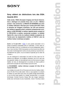 Communication de presse_EISA Awards 2014_F-CH_140815