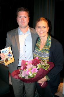 Interflora.se och Tina Thörner skänker 10 000 kronor till barnhem i Bangui