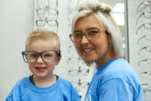 Inspirational Colchester mum shares family's cancer battle at opening of new optician