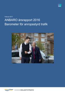 Årsrapport Barometer för anropsstyrd trafik 2016 med analyser och sammanfattningar