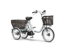 三輪の電動アシスト自転車「PAS ワゴン」を発売 「液晶かんたんスイッチ」と15.4Ah大容量バッテリーを搭載した2017年モデル