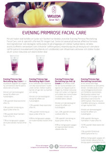 Samlingsblad Evening Primrose Facial Care