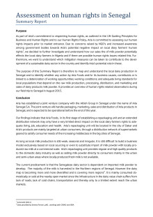 Undersøgelse af menneskerettigheder i Senegal