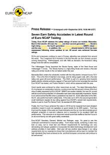 Euro NCAP press release - September 2019
