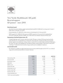 Delårsrapport Q1 2011