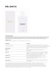 Mr Smith Produktinfo Volumising Shampoo