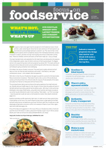 Find the gap! Focus on Foodservice report identifies menu opportunites