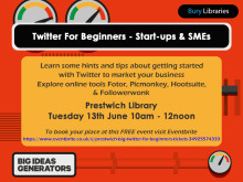 Twitter for Beginners at Prestwich Library