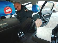 Polisbilarna i Litauen har en liten Brother i baksätet