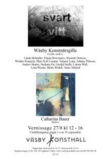 Vernissage idag 27/8 12-16,  Catharina Bauer och Wäsby Konstnärsgille i Väsby Konsthall