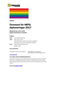 Inbjudan till hbtq-diplomering 19 juni