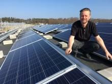 Godhem första företaget med solenergi hos Trollhättan Energi
