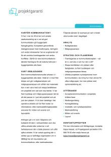 Projektgarantis kommunikationstjänster