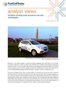 H2 Skåne: Creating fertile Ground for Fuel Cells and Hydrogen