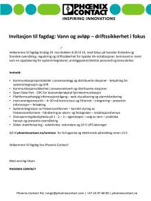 Fagdag 19.05.2015 : Vann og avløp – driftssikkerhet i fokus, Oslo