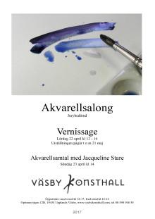 Vernissage för Akvarellsalong 2017 i Väsby Konsthall lördag 22 april kl 12-16