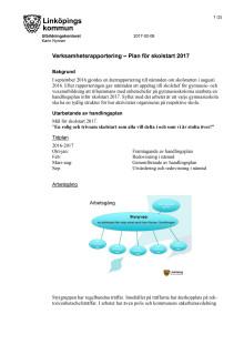 Utbildningsförvaltningens handlingsplan för skolstarten 2017