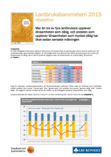 Lantbruksbarometern - hösten 2015